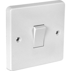 Crabtree Crabtree 10A Light Switch 1 Gang 2 Way - 47942 - from Toolstation