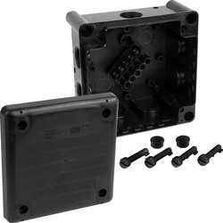 Junction Box IP66 102 x 102 x 56mm Black - 47979 - from Toolstation
