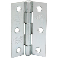 Unbranded Grade 7 Spun Pin Fire Door Hinge 75mm Bright Zinc Plated - 48046 - from Toolstation