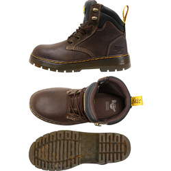 Dr Martens Dr Martens Brace Safety Boots Brown Size 10 - 48061 - from Toolstation