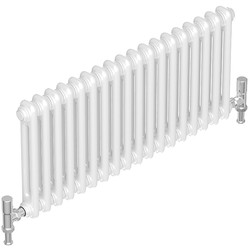 Tesni Oza 2 Column Horizontal Designer Radiator 600 x 1012mm 3364Btu White
