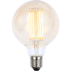Inlight Vintage LED Filament G95 Globe Bulb Lamp 6W ES 550lm Tint - 48140 - from Toolstation