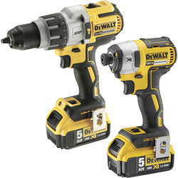 DeWalt DeWalt DCK276P2-GB 18V XR Combi Drill & Impact Driver Twin Pack 2 x 5.0Ah - 48166 - from Toolstation