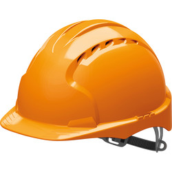 JSP EVO2 Adjustable Safety Helmet Orange