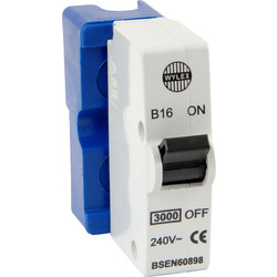 Wylex Plug in Breaker B Type 16A Blue