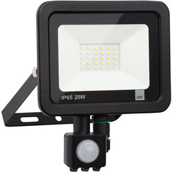 Zinc Slimline LED PIR Floodlight IP65 20w 1600lm