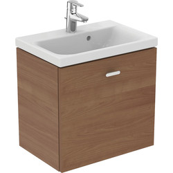 Ideal Standard Ideal Standard Senses Space Compact Basin & Unit American Oak - 48280 - from Toolstation