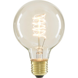 Inlight G80 Vintage Incandescent Decorative Dimmable Lamp 40W ES (E27) Clear 140lm - 48281 - from Toolstation