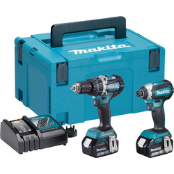 Makita Makita 18V LXT Brushless Combi Drill and Impact Driver 2 Piece Kit 2 x 5.0Ah - 48357 - from Toolstation