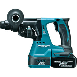 Makita Makita DHR242RMJ 18V LXT Cordless Brushless SDS Plus Rotary Hammer Drill 2 x 4.0Ah - 48435 - from Toolstation