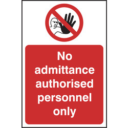 Prohibition Sign No Admittance 148x210