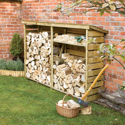 Rowlinson Rowlinson Large Log Store 156cm (h) x 229cm (w) x 56cm (d) - 48506 - from Toolstation