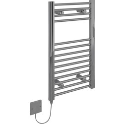 Kudox Kudox Electric Pre-Filled Chrome Flat Towel Radiator 700 x 400mm 150W - 48508 - from Toolstation