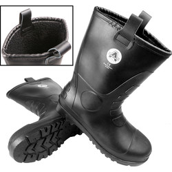 Amblers Safety Amblers FS90 Black Safety PVC Rigger Boots Size 10 - 48598 - from Toolstation