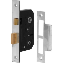 Forge Hardware Bathroom Mortice Lock 64mm Nickel - 48603 - from Toolstation