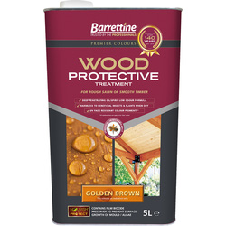 Wood Protective Treatment & Preserver 5L Golden Brown - 48655 - from Toolstation