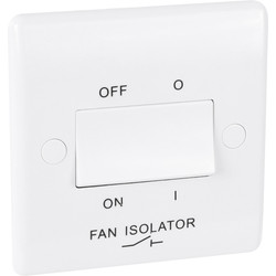 BG BG 10A Low Profile Fan Isolator 3 Pole - 48658 - from Toolstation
