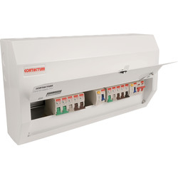 Contactum Contactum Metal 17th Edition Dual RCD + 10 MCBs Consumer Unit 16 Way - 48662 - from Toolstation