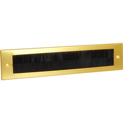 Stormguard Stormguard Flushback Brush Letter Plate Gold - 48714 - from Toolstation