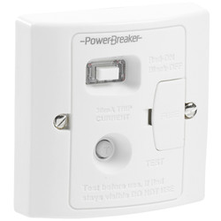 Power Breaker RCD Spur White 13A 30mA Plastic - 48767 - from Toolstation