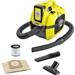 Karcher Karcher WD 1 18V Cordless Compact Wet & Dry Vacuum 1 x 2.5Ah - 48786 - from Toolstation