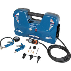 Scheppach Air Case 1100W 1.5hp 2L Oil Free Portable Air Compressor 240V