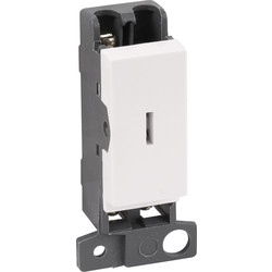Scolmore Click Click Mode Grid Module 10A 2 Way Keyswitch - 48853 - from Toolstation