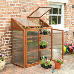 Rowlinson Rowlinson Hardwood Mini Greenhouse 144cm (h) x 120cm (w) x 63cm (d) - 48869 - from Toolstation