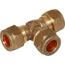 Compression Equal Tee 15mm - 48873 - from Toolstation