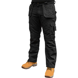 "Stanley Stanley Huntsville Holster Pocket Trousers 34"" R Black - 48891 - from Toolstation"