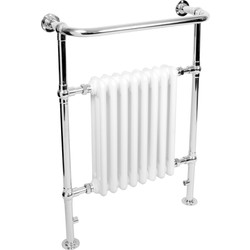Qual-Rad Traditional Towel Radiator 952 x 659mm 1699 Btu - 49024 - from Toolstation