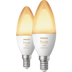 Philips Hue Philips Hue White Ambiance Bluetooth Lamp E14 - 49072 - from Toolstation
