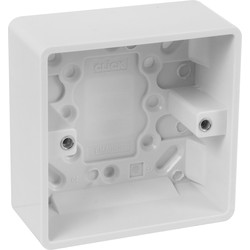Scolmore Click Click Mode Moulded Box 1 Gang 35mm - 49074 - from Toolstation