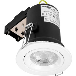 Meridian Lighting Fire Rated Cast GU10 Downlight White - 49149 - from Toolstation