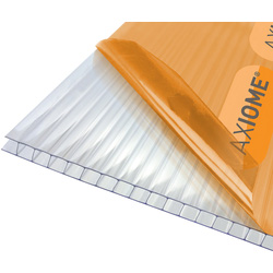 Axiome Axiome 6mm Polycarbonate Clear Twinwall Sheet 690 x 2000mm - 49178 - from Toolstation