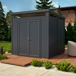 Rowlinson Rowlinson Pent Security Shed Painted Anthracite - 49180 - from Toolstation