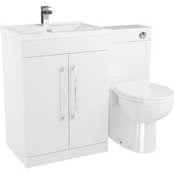Cassellie 2 Door Bathroom Unit Gloss White 1100mm - 49242 - from Toolstation