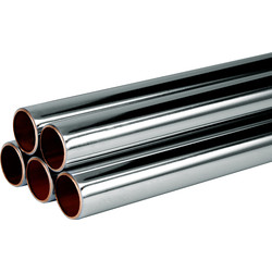 Wednesbury Wednesbury Chrome Plated Copper Pipe 15mm x 2m - 49401 - from Toolstation