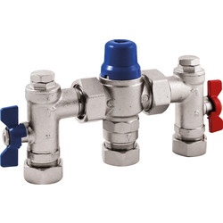 Reliance Valves Reliance EASIFIT 4in1 Thermostatic Mix Valve 22mm - 49432 - from Toolstation