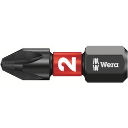 Wera Wera Impaktor Diamond Screwdriver Bit PH2 x 25mm - 49440 - from Toolstation