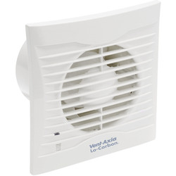 Vent-Axia 100mm Lo-Carbon Silhouette Extractor Fan Timer