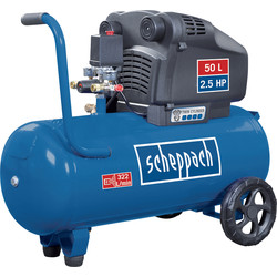 Scheppach Scheppach HC54DC 50L 2.5 HP Semi-Pro Oil-Free Twin Cylinder Air Compressor 230V - 49554 - from Toolstation