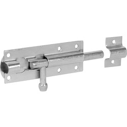 Unbranded Zinc Plated Tower Bolt 102mm - 49566 - from Toolstation