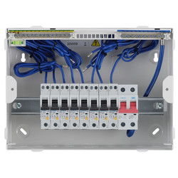 BG Metal Consumer Unit + 8 Type A RCBOs