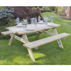 Forest Forest Garden Large Rectangular Picnic Table 77cm (h) x 177cm (w) x 153cm (d) - 49633 - from Toolstation