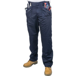 "Portwest Action Trousers 34"" R Navy - 49644 - from Toolstation"
