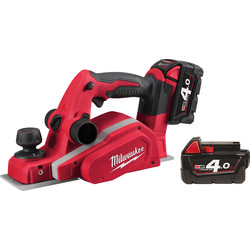 Milwaukee Milwaukee M18BP-402C 18V Li-Ion Cordless 2mm Planer 2 x 4.0Ah - 49699 - from Toolstation