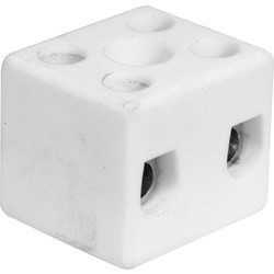 Porcelain Connector 5A 2 Way - 49779 - from Toolstation