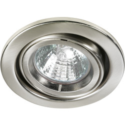 Halolite Cast Ring 240V/12V Adjustable Downlight Satin Nickel - 49794 - from Toolstation