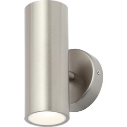 Zinc Integrated LED Stainless Steel Up & Down Light IP44 2 x 4W 560lm - 49884 - from Toolstation